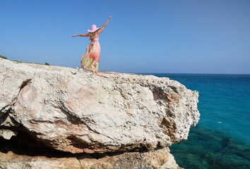 Girl on the rock, Cyprus