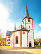 canvas print picture - Kirche Mörlenbach, Odenwald
