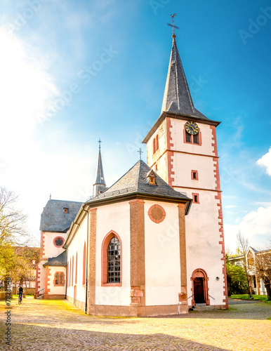 canvas print picture Kirche Mörlenbach, Odenwald