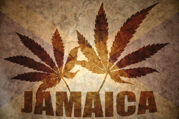Vintage jamaican flag