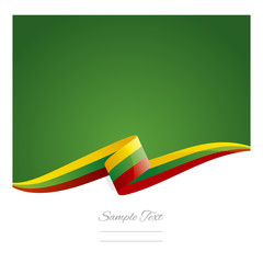 New abstract Lithuania flag ribbon