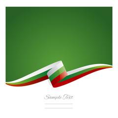 New abstract Bulgaria flag ribbon