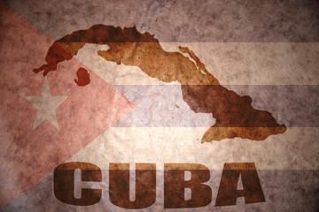 Vintage cuba map