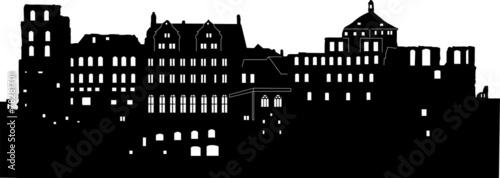 Heidelberger Schloss - Silhouette - 78281701