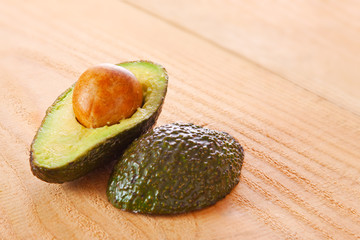 Fresh avocado isolated .