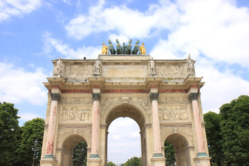Arc de Triomphe du Carrousel at  Jardin des Tuileries