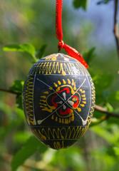Wooden Easter egg, Kyiv