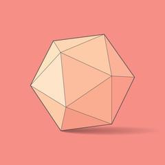 Icosahedron, vector illustration