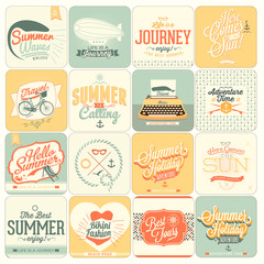 16 Retro background for Summer