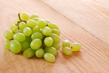 Fresh green grapes.