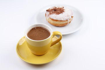 A Cup of Turkish Coffee and a Donut