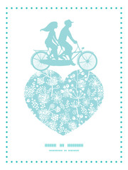 Vector blue and white lace garden plants couple on tandem