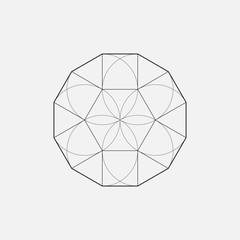 Geometric shape, star design, hexagon