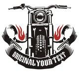 motorcycle ribbon flame - 78283373
