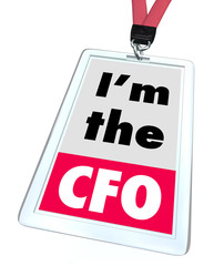 Im the CFO Chief Financial Officer Badge Job Role Position
