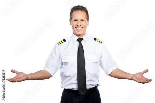 Leinwanddruck Bild Welcome on board!