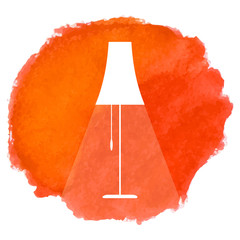 Vintage lamp icon.