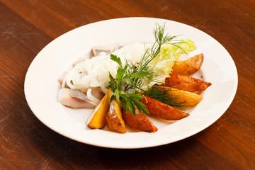 herring with potatoes