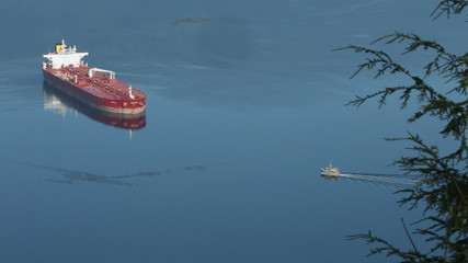 Burrard Inlet Anchored Oil Tanker