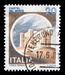 "Italy Castles stamp: ""Castel del Monte"" in Andria"