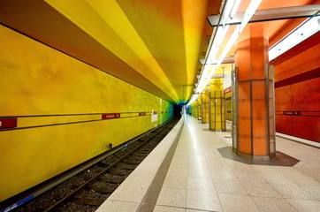Candidplatz subway station in Munich, Germany