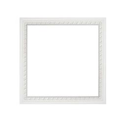 architectural square white frame molding