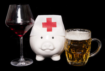 cost of alcohol abuse on health piggy bank