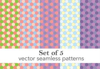 Set of honeycomb backgrounds