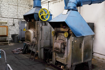 The image of a industrial furnace