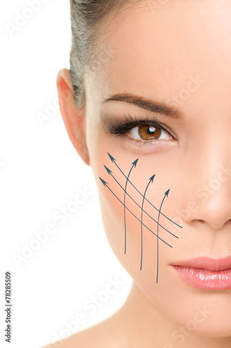 poster of Facelift anti-aging treatment on woman face skin