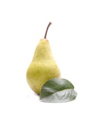 Pear isolated on wooden background