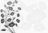 Fototapety Dekorasyon çiçekler ( beyaz arka fon )