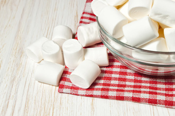 marshmallow on a plate