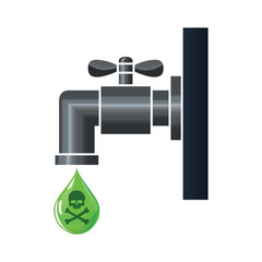 Water tap or faucet with poison drop