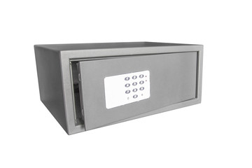 safety deposit boxes isolated on a white background