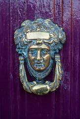 Close up Detail of  brass Door Knocker