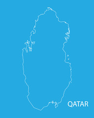 outline of Qatar map