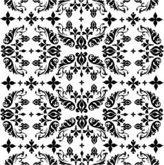 Seamless ornate background - white and black