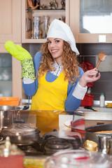 Smile kitchen glove