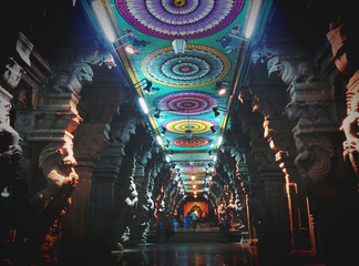 Hindu Temple Meenakshi Madurai