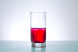 glass of red liquid