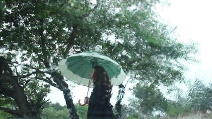 Walking on a rain