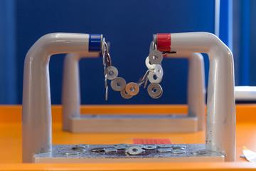ron circles hanging on magnet