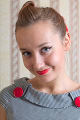 young woman in the pin up style