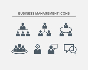 Business Management Icons 3 (Black white Version)