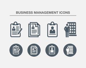 Business Management Icons 4 (Black white Version)