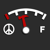 empty fuel meter poster