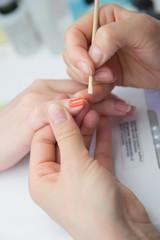 adjust nail polish wooden stick