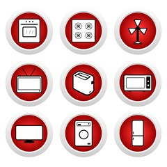 Red buttons with icon 9