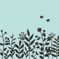 春の草花 デザイン